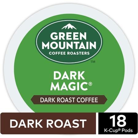 Blue Mountain Chocolate Coffee - Green Mountain Coffee Dark Magic, Keurig K-Cup Pod, Dark Roast, 18 Ct