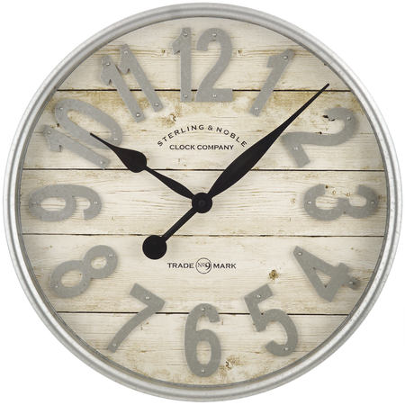 - Better Homes & Gardens Farmhouse Plank with Galvanized Finish Wall Clock, 1 Each