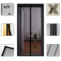"""Gimars Magnetic Screen Door Cover Full Frame Velcro Reinforced Fixer Magic Heavy Duty Fiberglass Mesh Curtain Fits Door to 34"""" x 82"""" MAX, Anti Bug,Mosquito,Fly"""