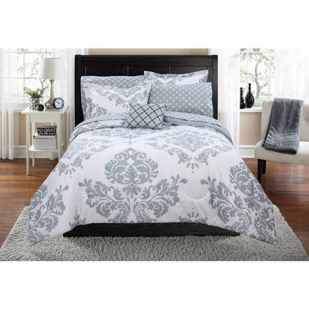 Mainstays Classic Noir Grey Bed In A Bag Coordinated