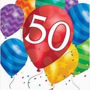 Balloon Blast 50th Birthday Lunch Napkins 4PK