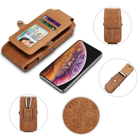 Njjex Vertical PU Leather Phone Holster Pouch with Belt Loop Carrying Case for Apple iPhone XR,X,XS Max,6,SE,Samsung Google HTC LG Sony Nokia Alcatel Motorola up to 6.5