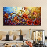 On Clearance Large Modern Canvas Art Print Sunflower Printing Picture Wall Decor Unframed