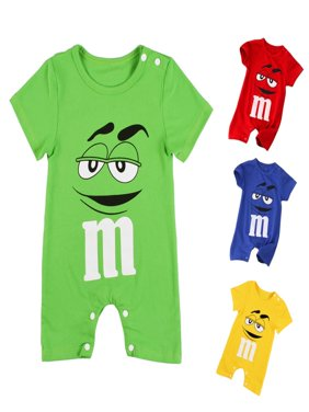 Kacakid Cute Infant Baby Boy Summer Short Sleeve Cotton Jumpsuit Rompers Clothes