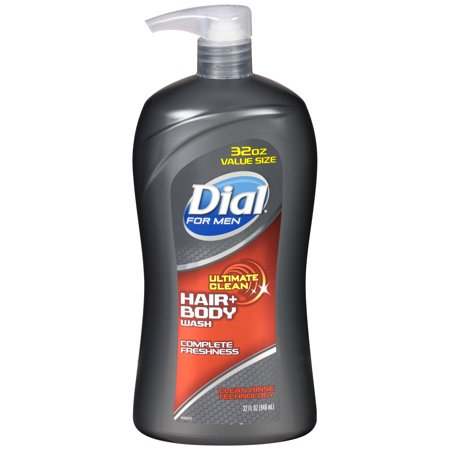Dial Aerosol - (2 pack) Dial for Men Body Hair + Body Wash, Ultimate Clean, 32 Ounce