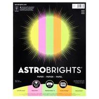 "Astrobrights Color Paper, 8.5"" x 11"", 24 lb/89 gsm, ""Neon"" 5-Color Assortment, 100 Sheets"