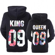 191e9eee005 Fancyleo Matching Couple King and Queen His and Her Hooded Sweatshirt  Pullover Couple Hoodies
