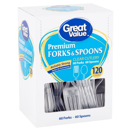 Absolute Fork (Great Value Premium Clear Cutlery Forks & Spoons, 120 count)