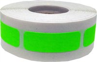 Fluorescent Green Rectangle Stickers, 0.5 x 1.5 Inches in Size, 500 Labels on a (Blue Inventory Rectangle Labels)