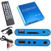 axGear USB Media Player 1080P HDMI VGA Multi Media MP3 MP4 SD SDHC