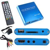 AGPtek 1080P Full HD Digital Media Player Support Internal Flash/USB Storage/SD/SDHC with Remote Controller