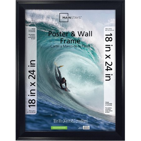 Mainstays 18x24 Casual Poster And Picture Frame Black Walmartcom