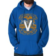 c5df7af1 Brisco Brands Virginia Pride School Spirit VA Pullover Hoodie Sweatshirt