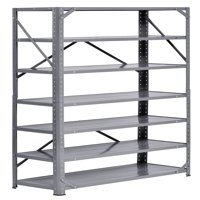 "Steel 7-Shelf Shelving Unit, 750 lb. Capacity, 30"" Width x 60"" Height x 12"" Depth"