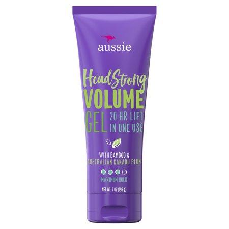 Volumizing Hair Gel - Aussie Headstrong Volume Gel with Bamboo & Kakadu Plum, 7.0 oz