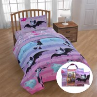Vampirina 'Rainbow' 6 Piece Twin Bed Set with BONUS Tote and Decorative Pillow Set, Kid's Bedding