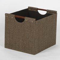 Better Homes & Gardens Basket Weave Bin Black Or Brown