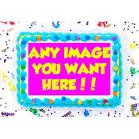 Your Photo Edible Cake Image Topper Logo Frosting Sheet 1/4 Sheet