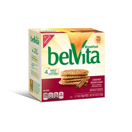 (6 Pack) Belvita Cinnamon Brown Sugar Breakfast Biscuits, 8.8 Oz ()
