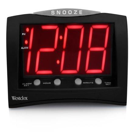 66705A- Westclox Triad Alarm Clock with Large 1.8