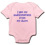 CafePress - I Get My Awesomeness From My Aunt Body Suit - Baby Light Bodysuit