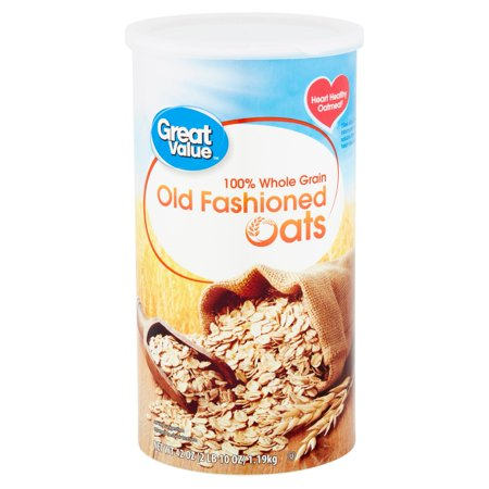 (2 pack) Great Value Old Fashioned Oats, 42 oz (700 Oats)