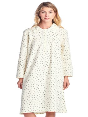 Casual Nights Women's Flannel Floral Long Sleeve Nightgown - Yellow Pink - X-Large