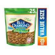 Blue Diamond Natural Whole Almonds, 25 Oz.