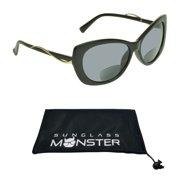 f08ba627e55b Sunglass Monster Womens BIFOCAL Sunglasses Sun Readers with Cat Eye  Oversized Sexy High Fashion Frame
