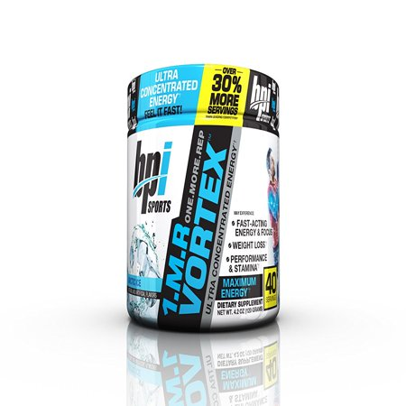 BPI Sports 1.M.R Vortex Pre Workout Powder, Arctic Ice, 40