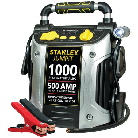 STANLEY 1000/500 Amp Jump Starter w/120 PSI Compressor (The Best Car Jump Starter)