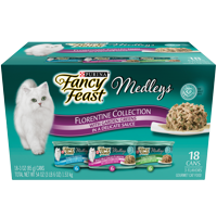 Purina Fancy Feast Medleys Florentine Collection Adult Wet Cat Food Variety Pack - (18) 3 oz. Cans