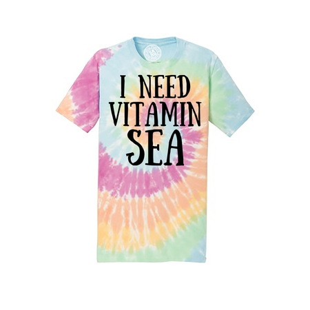 I Need Vitamin Sea Tie Dye Mens and Womens Shirt - Tie Dye Shirts For Sale