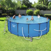 "Bestway Steel Pro Max Swimming Pool Set with 1,000 GPH Filter Pump, 15' x 48"""