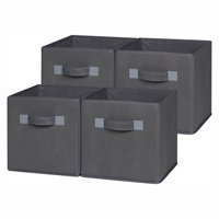 OneSpace 50-CB4P04 Foldable Cloth Storage Cube Set, 4 Pack, Gray