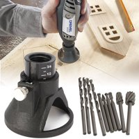 Dremel Rotary Multi Tool Cutting Guide HSS Router Drill Bits Set Attachment Kit