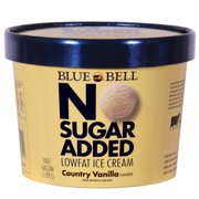 Blue Bell No Sugar Added Country Vanilla Ice Cream 64 OZ