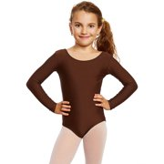 d79c0637eb Leveret Girls Leotard Basic Long Sleeve Ballet Dance Leotard Kids   Toddler  Shirt (2-