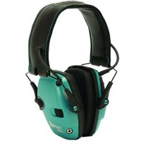 Howard Leight Impact Sport Electronic Hearing Protection Earmuffs, Teal