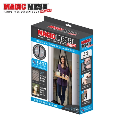 Magic Mesh Deluxe Magnetic Hands Free Screen Door Cover As Seen on - Flower Screen