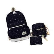f96c1a3bd7cb Clearance School Backpacks! 3Pcs Sets Fashion Canvas Backpacks for Women