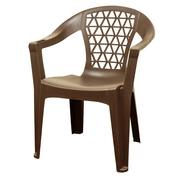 Adams Mfg Corp Brown Resin Penza Stack Chair W/ Phone Holder