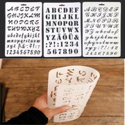 girl12queen letter alphabet number hollow stencils painting scrapbooking paper cards craft