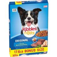 Kibbles 'n Bits Original Savory Beef & Chicken Flavors Dry Dog Food, 17.6-Pound Bag