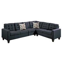 Bobkona 4-Piece Reversible Sectional Set