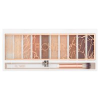 Flower Shimmer & Shade Eyeshadow Palette, ES3 Golden Natural