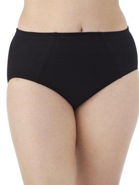 Women's Plus Flexible Fit Brief Panties - 4 Pack