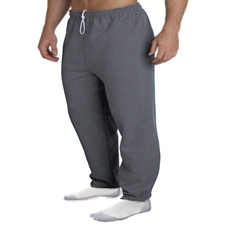 - Gildan Men's Elastic Bottom Pocketed Sweatpant