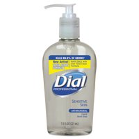 Dial Professional Antimicrobial Soap for Sensitive Skin, 7.5oz Decor Pump Bottle, 12/Carton