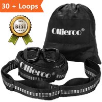 Allieroo Adjustable Hammock Tree Straps Heavy Duty Camping Hammock Security Accessories,2-Pack White